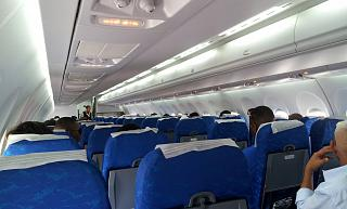 Пассажирские салон самолета Ан-158 авиакомпании Cubana