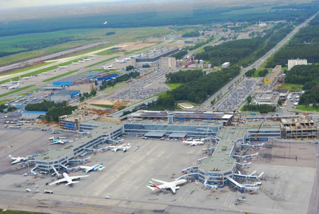 Аэропорт Домодедово, вид сверху