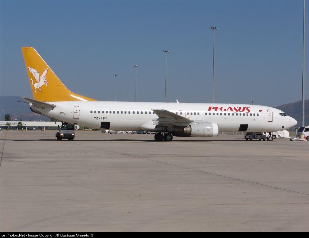 Картинка Самолет авиакомпании Pegasus Airlines в Милас-Бодрум