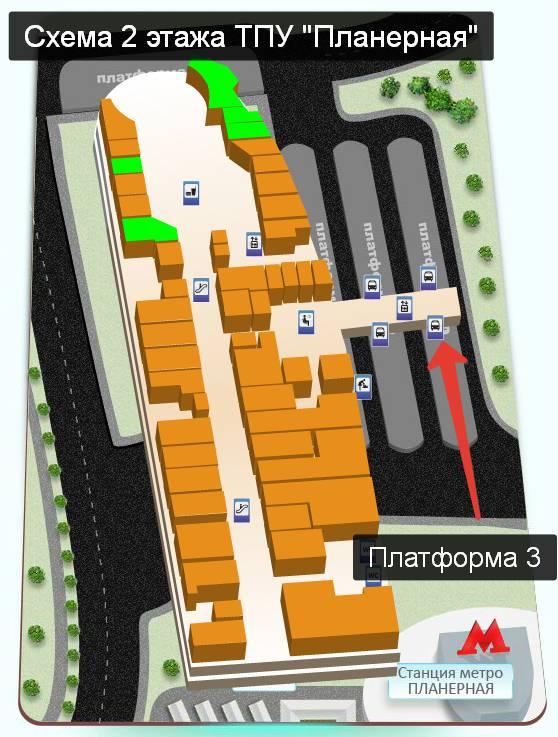 схема метро Планерная