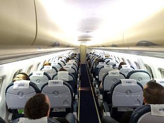 Салон самолета ATR 72 авиакомпании NORRA