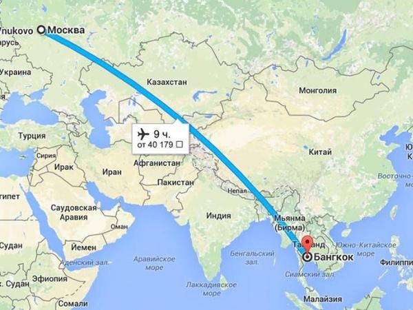 Перелет Москва - Банкок