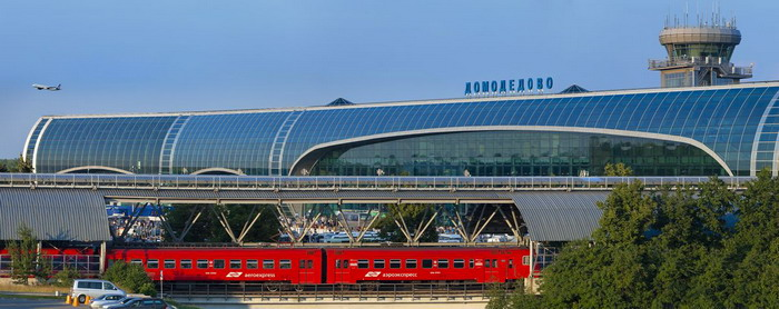 Поезд Аэроэкспресс в аэропорту Домодедово