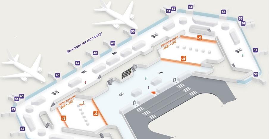 Карта сектора Ф, этаж 2
