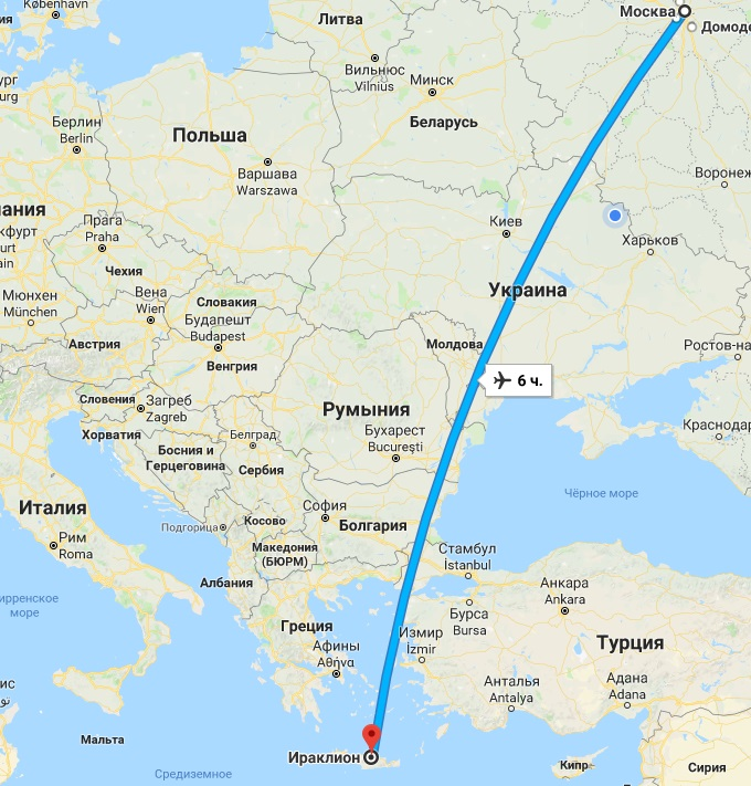 Авиабилеты Москва — Крит