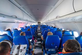 Пассажирский салон самолета Airbus A320 Аэрофлота