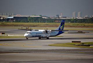 Самолет ATR 72 авиакомпании Lao Airlines в аэропорту Бангкок Суварнабуми