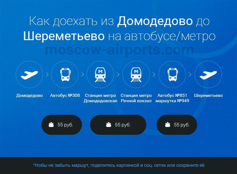 Как добраться из Домодедово до Шереметьево на автобусе, метро