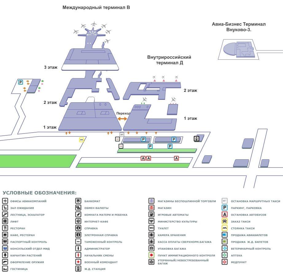 терминал в внуково