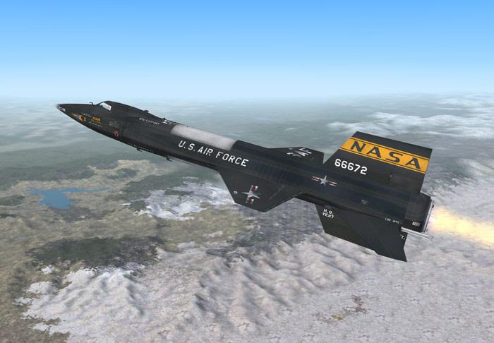 Самый быстрый самолет в мире - North American Aviation X-15