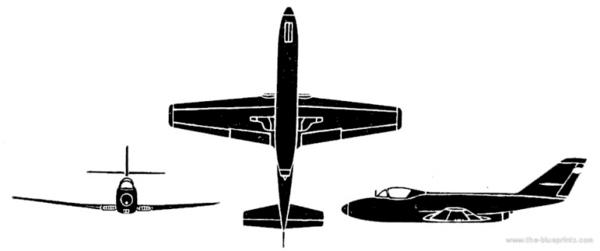 Самолет Яковлев Як 32 - чертежи, габариты, рисунки