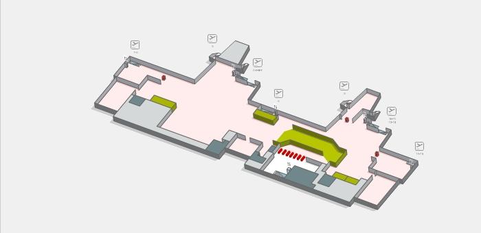 Первый уровень пассажирского терминала аэропорта Жироны
