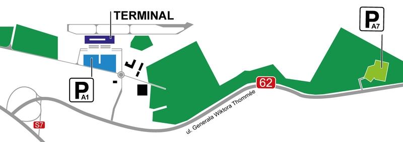 Парковки на территории аэропорта Модлин
