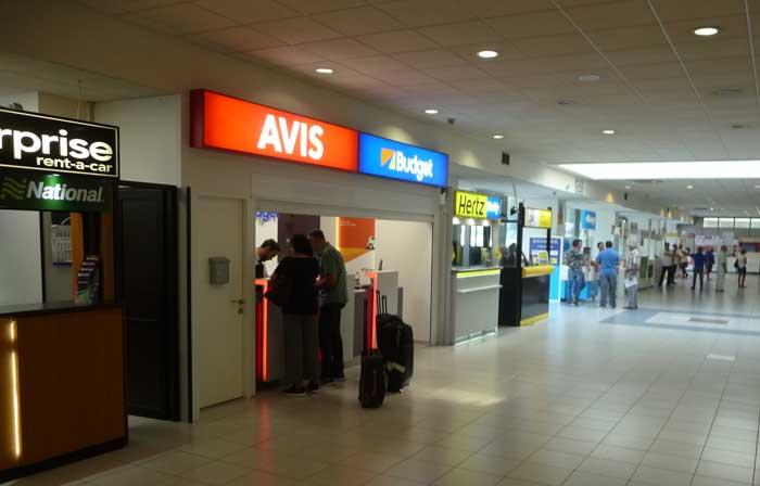 Пункты проката автомобиля в аэропорту Родоса Диагорас