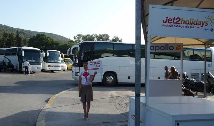 Бесплатный трансфер для пакетных туров в аэропорту Родоса