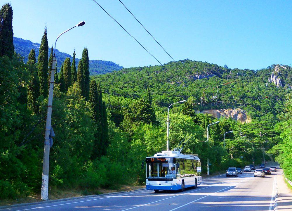 Троллейбусная ветка Симферополь — Ялта