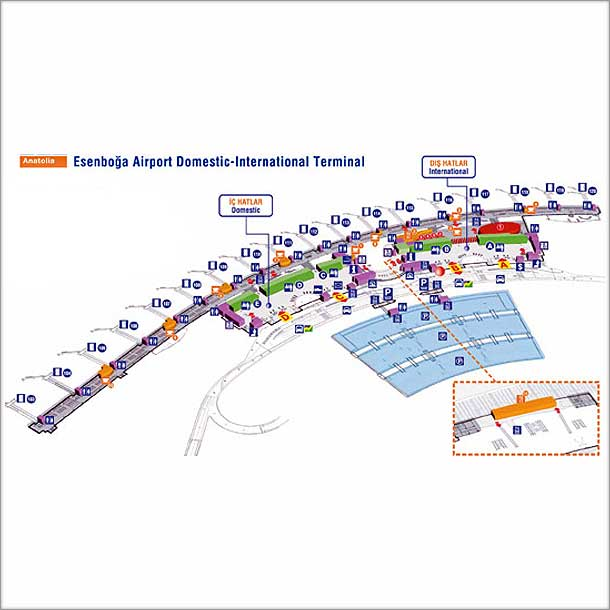 Схема аэропорта Анкары