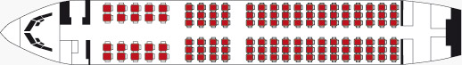 Схема салона Боинг 737-700 авиакомпании Газмпромавиа