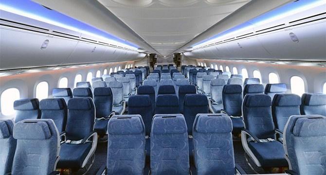 Боинг 787 (Dreamliner) салон