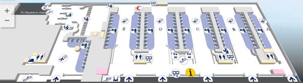 Аэропорт Дубая - терминал 1 (зона вылета)