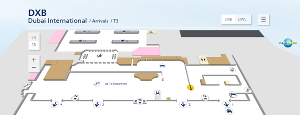 Аэропорт Дубая - терминал 3 (зона прилета)