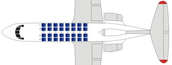 Як-40 схема салона