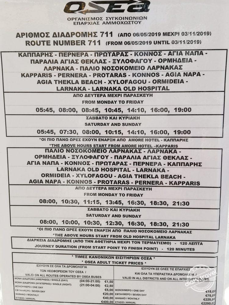 Как добраться из аэропорта Ларнаки (Кипр) до Айя-Напы и Протараса дешево?