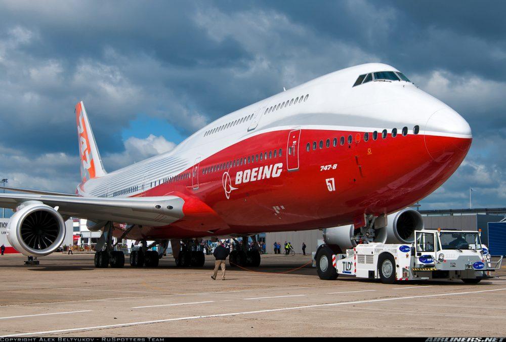 Новейшая модификация серии— лайнер Боинг747-8