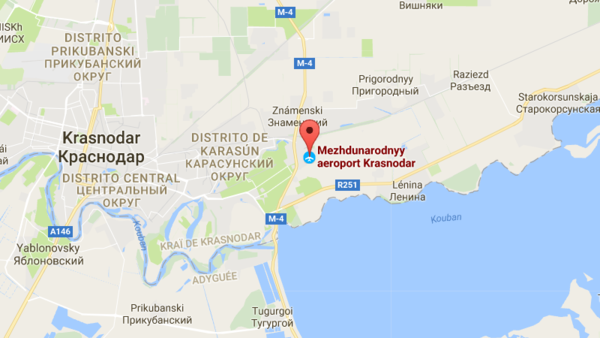 расстояние от аэропорта Краснодара до Краснодара