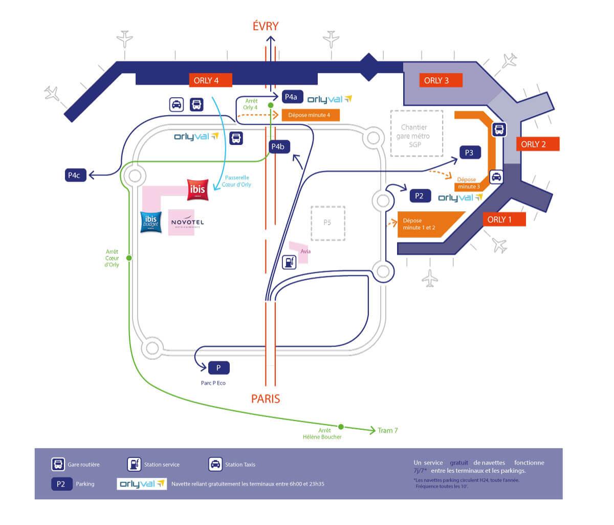 аэропорт орли схема