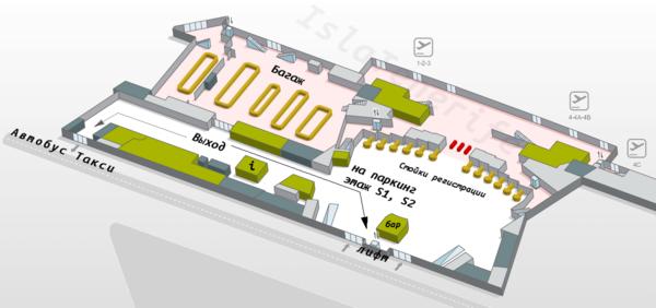 План: северный аэропорт Тенерифе