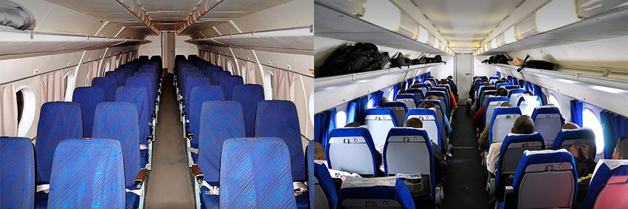 Салон Ан-24/Ан-26 авиакомпании Полярные Авиалинии