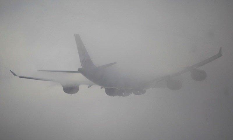 задержка рейса из-за тумана