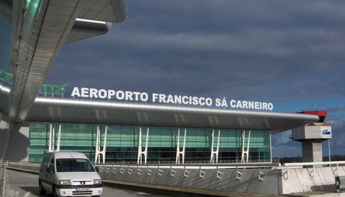 Воздушный причал рядом с городом Порту