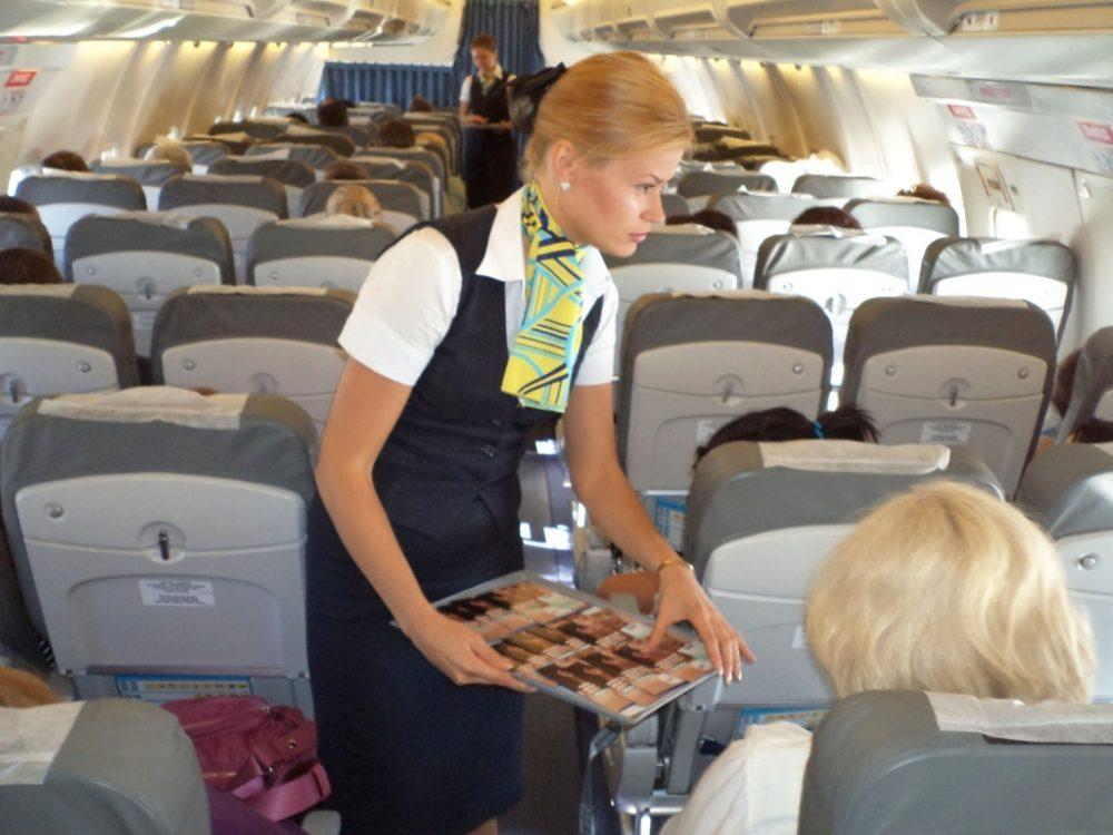конфеты в самолёте