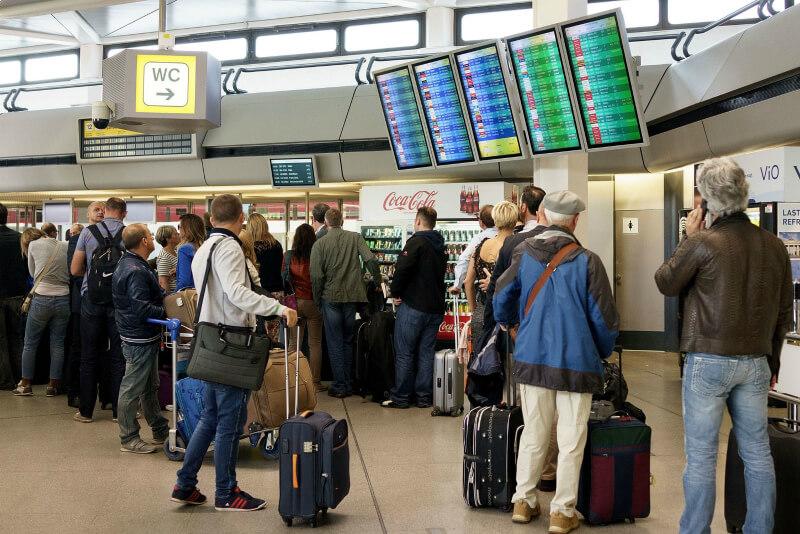 Очередь в аэропорту