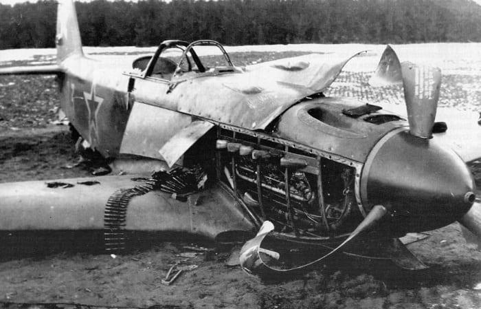 Як-3 фронтовое поражение
