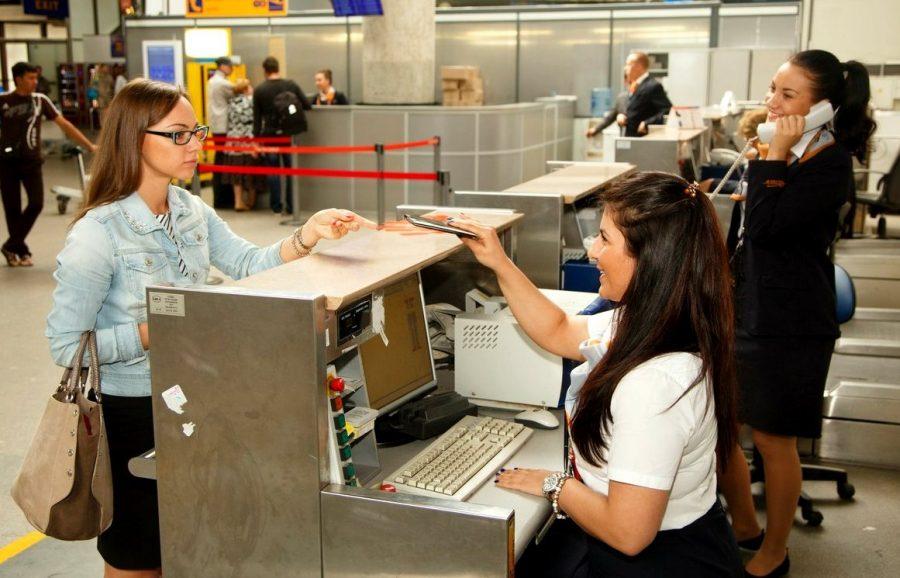 Регистрация на рейс самолета