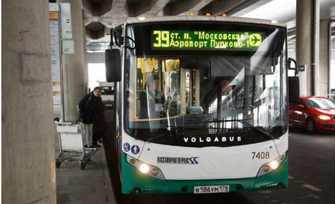 Общественный транспорт из «Пулково»