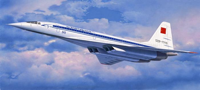 Сверхзвуковой российский пассажирский лайнер Ту-144