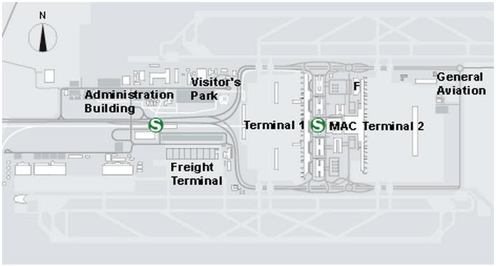 Где расположены электрички в аэропорту Мюнхена