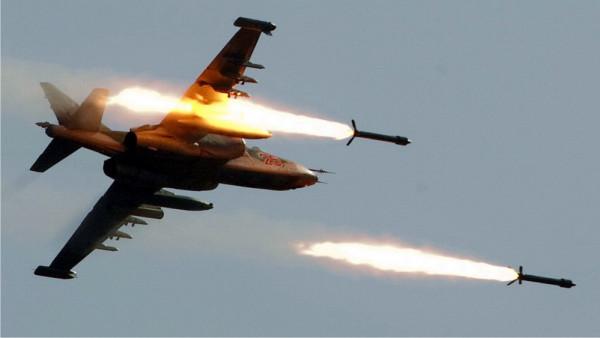 Штурмовик Су-25СМ3, ракетный залп