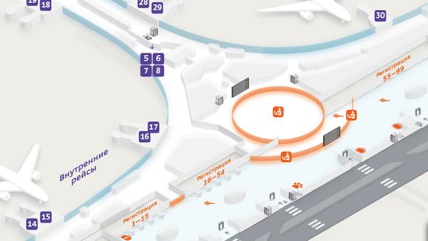 карта аэропорта Шереметьево с терминалами
