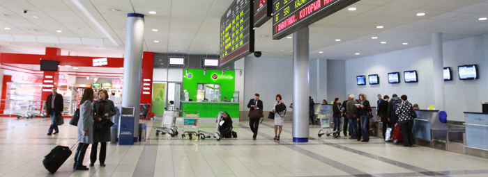 Стойка регистрации S7 аэропорта Толмачево