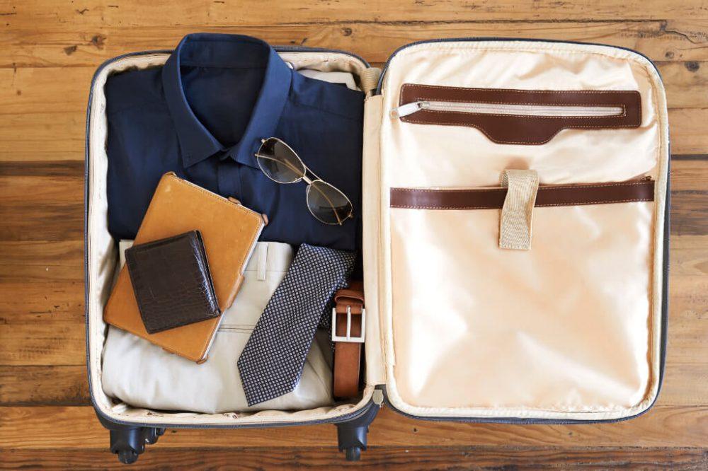 Вещи в дорожной сумке