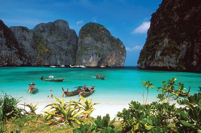Идиллический пляж на Самуи в Таиланде