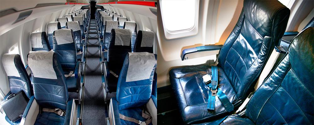 Салон Bombardier CRJ-200 авиакомпании Ямал